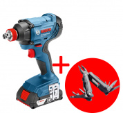 Гайковерт ударный BOSCH GDX 180-LI Professional +Swiss Peak Multitool